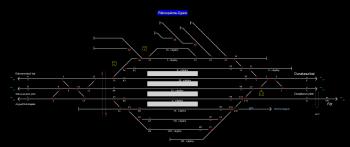 Rákospalota-Újpest állomás helyszínrajza