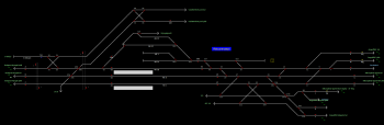 Rákosrendező állomás helyszínrajza