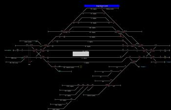 Salgótarján külső állomás helyszínrajza