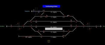 Szabadegyháza állomás helyszínrajza