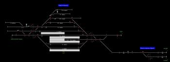 Balatonszentgyörgy állomás helyszínrajza