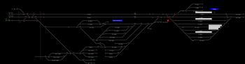 Szeged állomás helyszínrajza