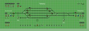 Taksony állomás biztosítóberendezáse