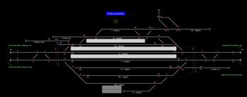 Törökszentmiklós állomás helyszínrajza