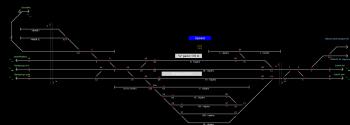 Újszász állomás helyszínrajza