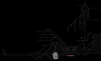 Záhony állomás helyszínrajza