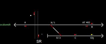 Kecskemét állomás helyszínrajza