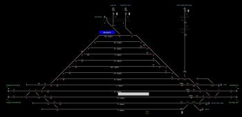 Budaörs állomás helyszínrajza