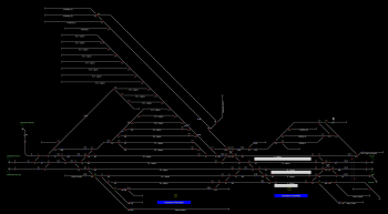 Komárom-Rendező állomás helyszínrajza